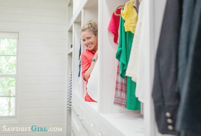 Sawdust Girl master closet