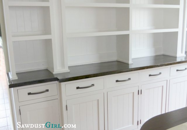 Built-in Dining Room Buffet - SawdustGirl.com