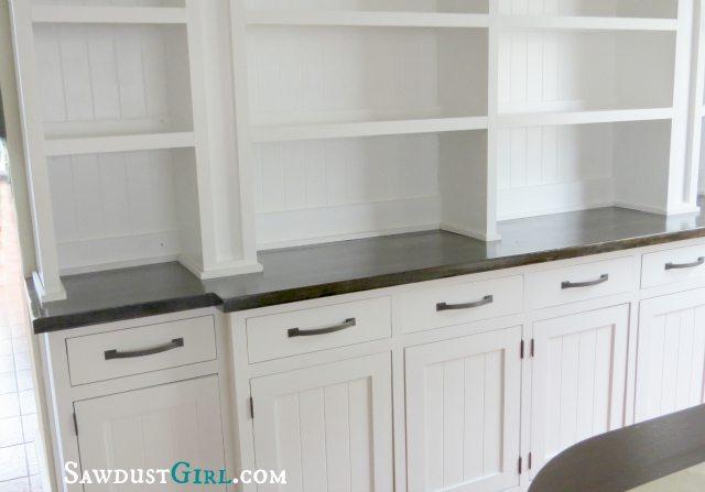 Built-in Dining Room Buffet - SawdustGirl.com