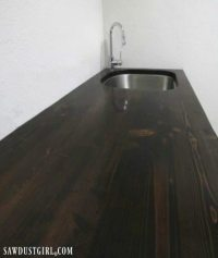 How to build a wood countertop with undermount sink ...