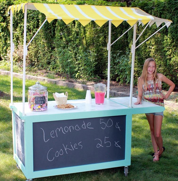 SprayPaintedStriped Lemonade Stand Canopy  Sawdust Girl