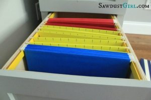 hanging file drawer tutorial at SawdustGirl.com