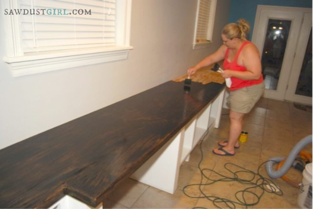 Oak Plywood Countertops  Caras Office  6  Sawdust Girl
