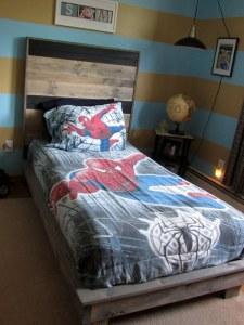 diy bed and headboard