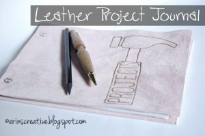 diy leather project journal