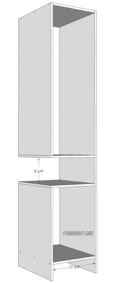 woodworking plans for wardrobe tower with open cubby