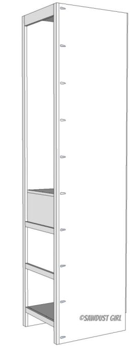 wardrobe cabinet free woodworking plans