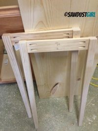 DIY Console Table - Sawdust Girl
