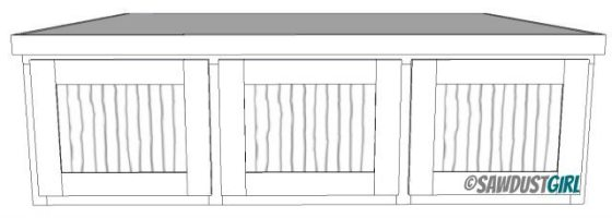 Drawers and drawer fronts for Queen Platform Bed with Storage