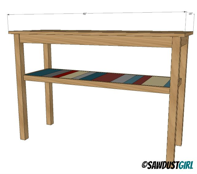 Two Toned DIY Console Table