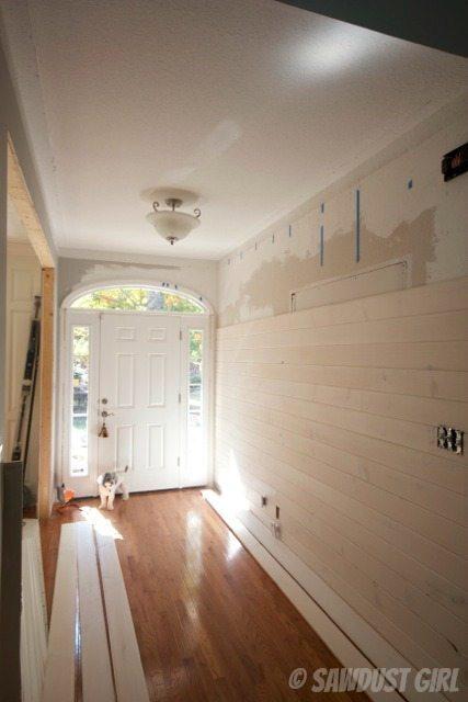 Plank wall