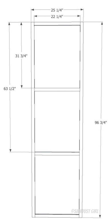 Built-in bookshelf plans from SawdustGirl.com