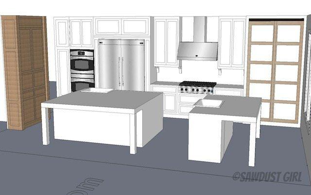 Sawdust Girl - kitchen design plan