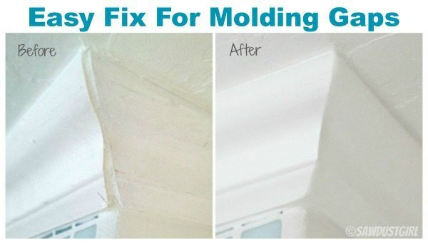 Super easy way to fix gaps in trim and molding!