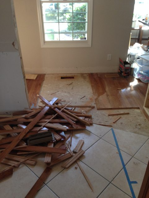 more floor patching