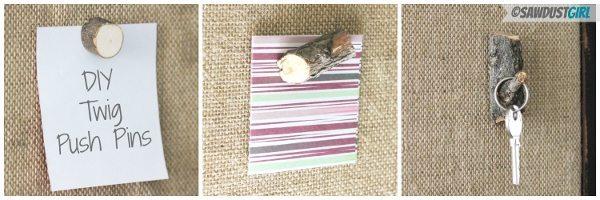 DIY Gift Ideas: Twig Push Pins