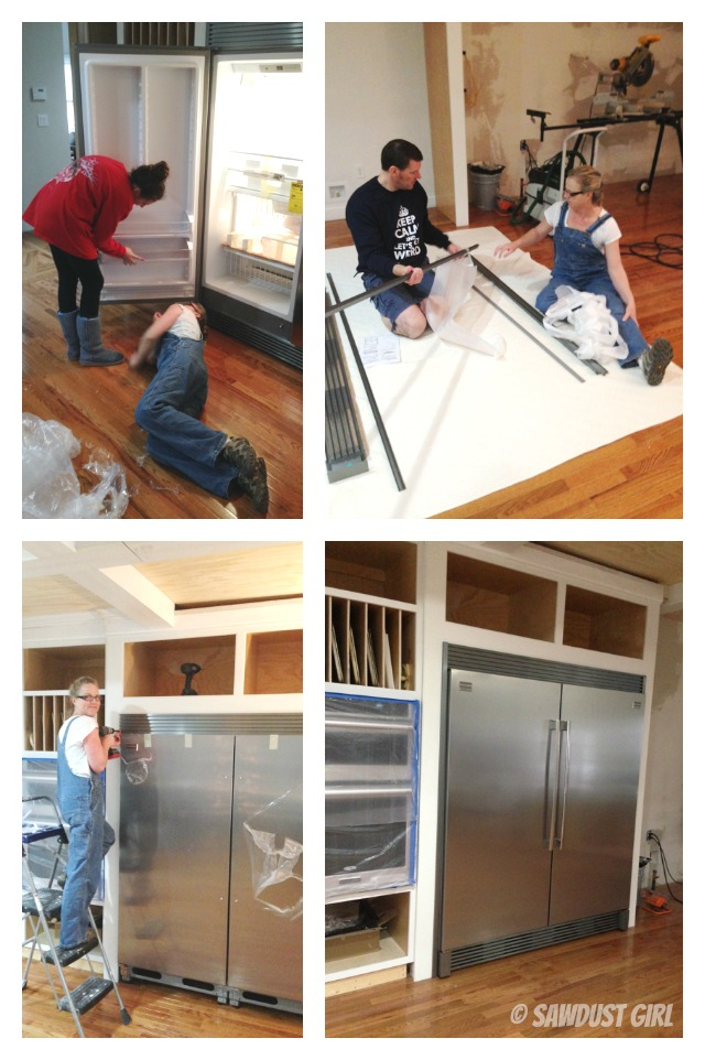 Fridge and freezer installation