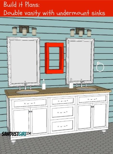 Double Vanity - DIY Vanity plans