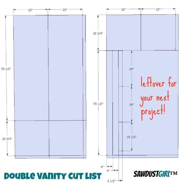 cut list - Double vanity plans,