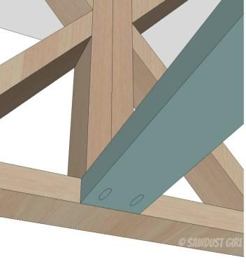 X base farmhouse table plans from SawdustGirl.com