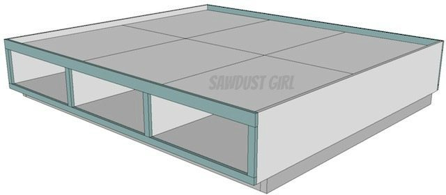 Bed frame with drawers-free plans