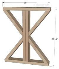Woodworking Plans X Leg Dining Table Plans PDF Plans