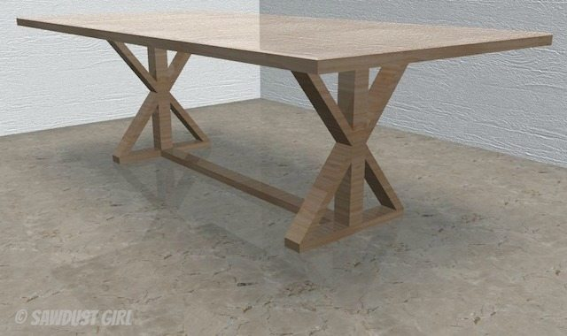Prime Diy X Base Dining Table Free Woodworking Plans Sawdust Girl Home Remodeling Inspirations Propsscottssportslandcom