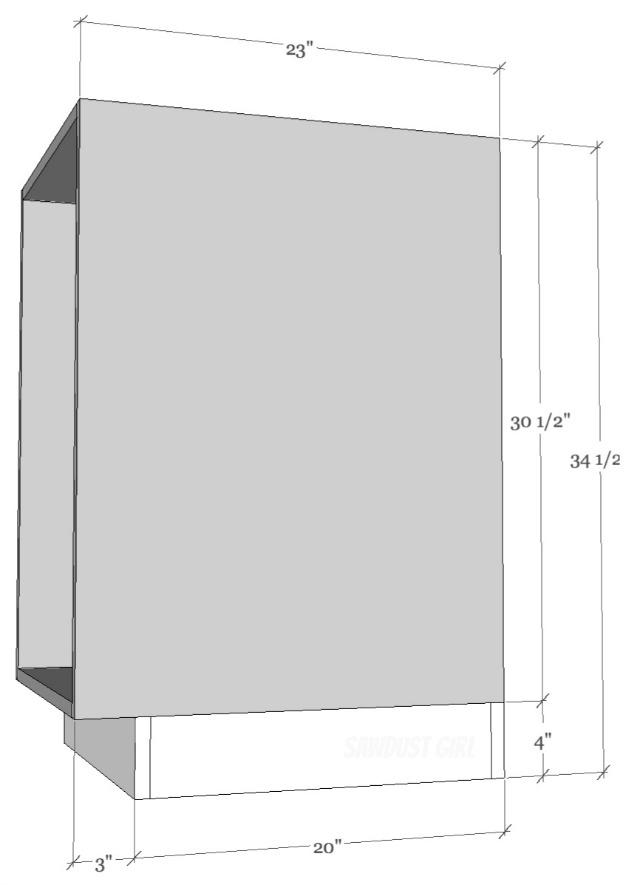 Toe Kick Depth : depth, Cabinet, Built-in, Building, Basics, Sawdust, Girl®
