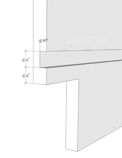 Cutting dados for hidden cabinet construction