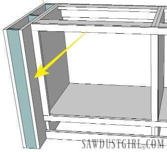 Add a decorative leg to base cabinets