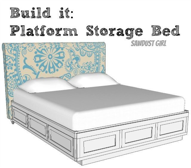Cal King Platform Storage Bed Sawdust Girl