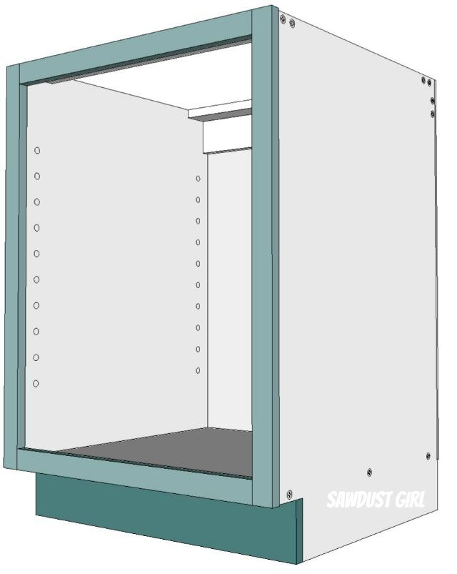 Three ways to build DIY Kitchen Cabinets  Sawdust Girl