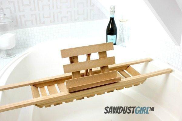 DIY Cedar Bathtub Caddy: Super Easy Version