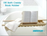 DIY Book Holder for Bath Caddies - Sawdust Girl