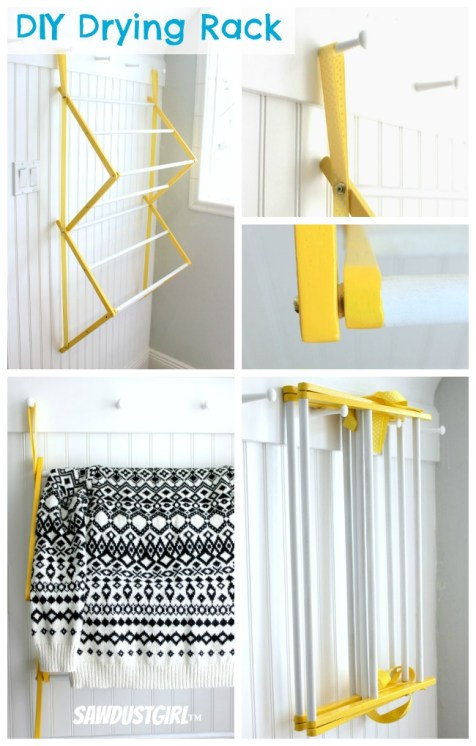 Folding Drying Rack - free plans