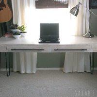 DIY Plywood Desk - Sawdust Girl
