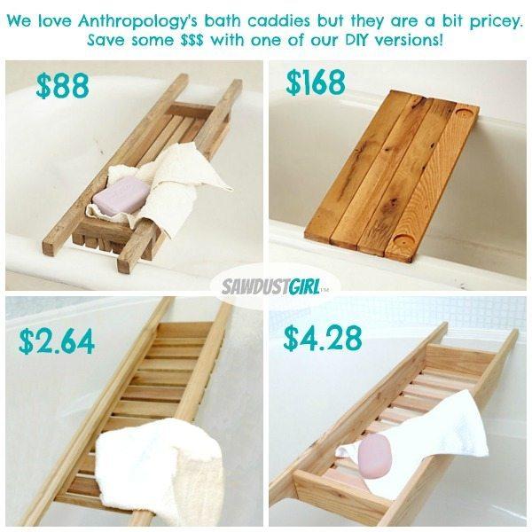DIY Cedar Bathtub Caddy