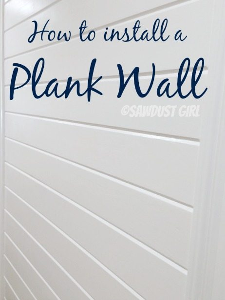 How to install a Plank Wall - tongue and groove - Sawdust Girl®