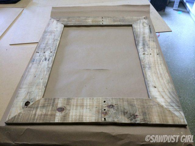 salvaged wood frame
