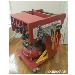 Kitchen Cabinet Trim Installation Countertops For Rolling Tool Cart And Air Compressor Storage - Sawdust Girl®