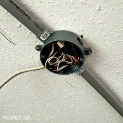 junction box on ceiling