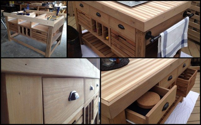 DIY Kitchen Island and Storage Cart