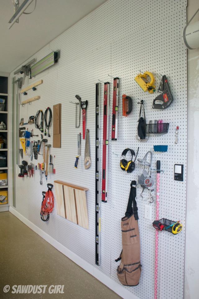 How to create a Pegboard organization wall  Sawdust Girl
