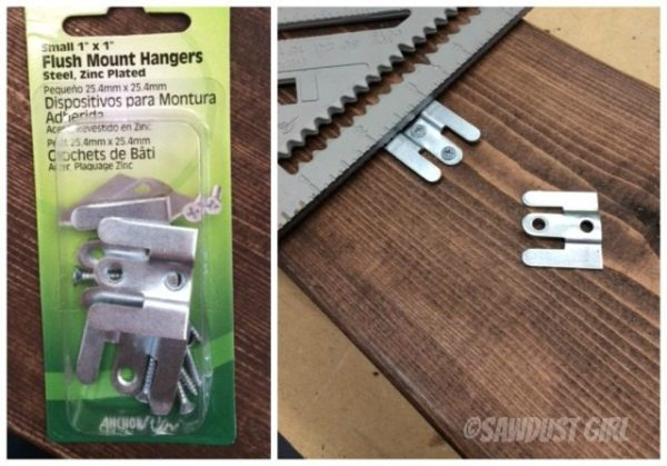 Add flush mount hangers for wall mounting