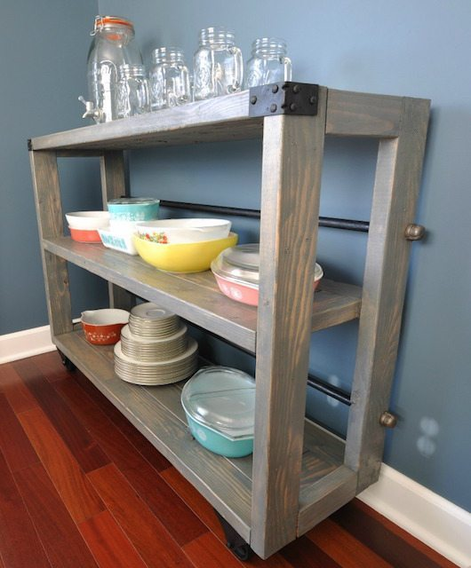 DIY Dining Cart Tutorial - Decor and the Dog