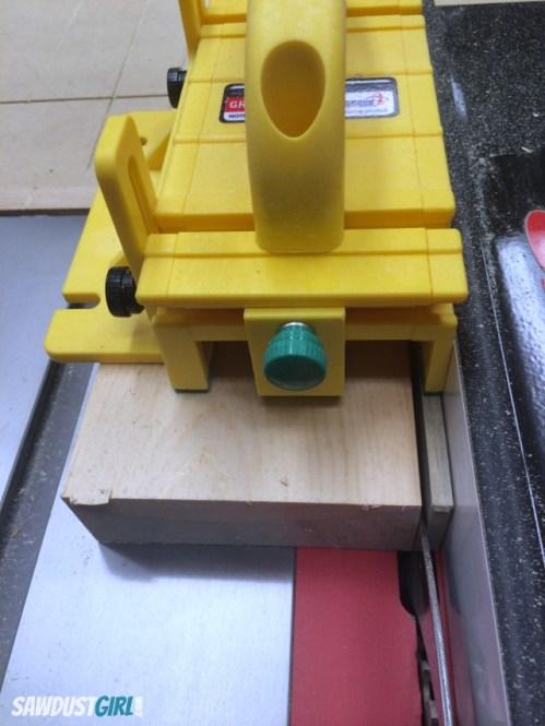cutting quarter inch wood strips