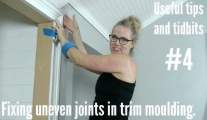 fixing uneven moulding joints