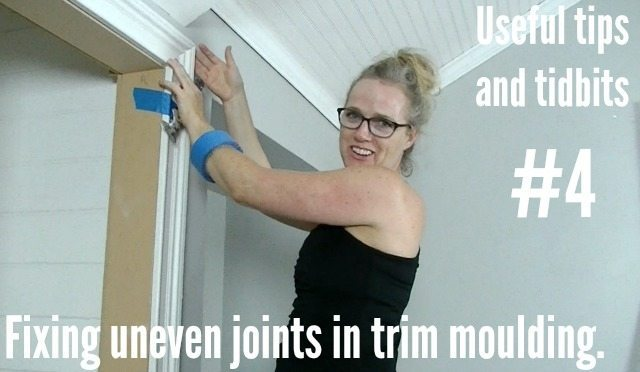 Fixing Uneven Joints In Trim Moulding Sawdust Girl 174