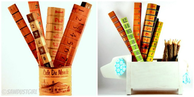 DIY Gift-Handcrafted Ruler and Dog Caddy. Gifts for under $5!