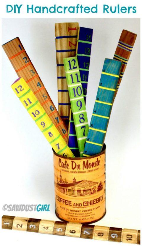 Handmade Wooden Ruler - Great DIY gift idea!